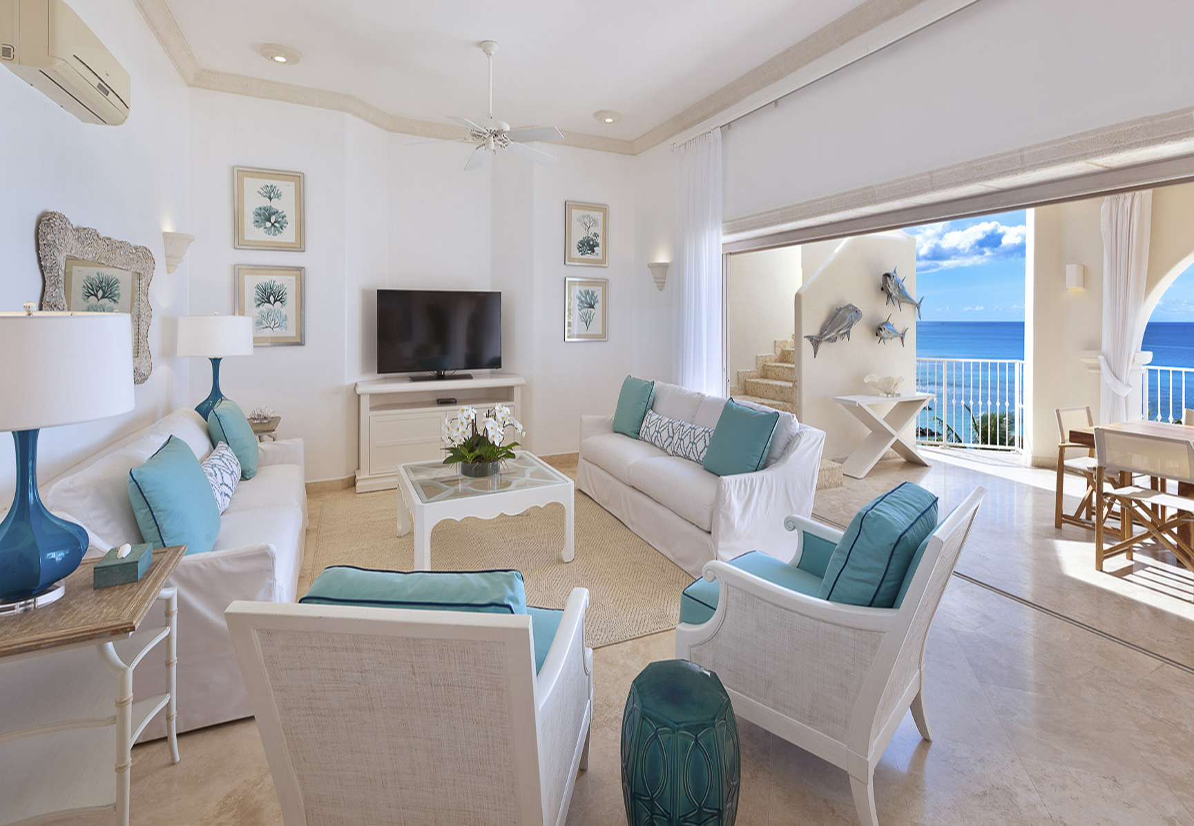 Moderne living, 10 personen, penthouse, Barbados